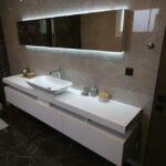 αναμόρφωση μπάνιου με κρυφό φωτισμό